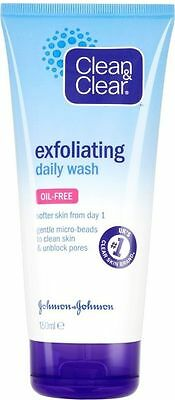 CLEAN & CLEAR EXFOLIATING DAILY WASH 150ML (Oil Free/Softer Skin/Unblock Pores)