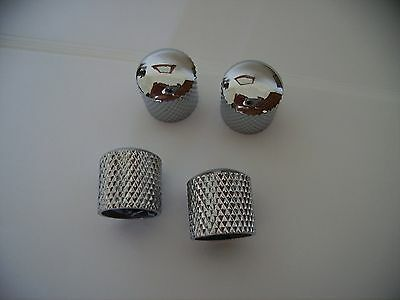 chrome metal dome control knobs for electric/bass guitars,set of 4