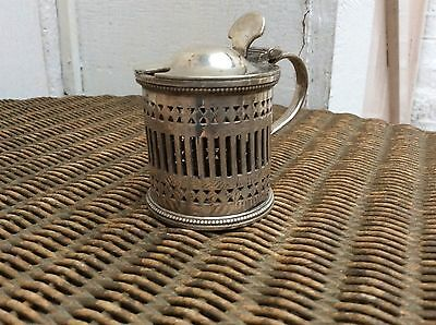 Atkin Brothers EPNS Mustard Pot, HA EA FA & Arm with Prince of Wales Feathers