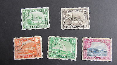 Aden Kgvi 1939 - 5 Used Hinged.