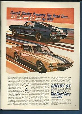 Vintage 1967 Ford Mustang Shelby GT magazine ad