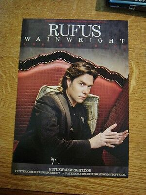Rufus Wainwright 2013 Tour Flyer - Mint Condition