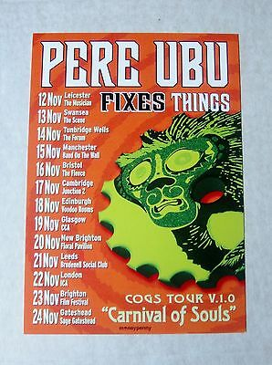 Pere Ubu - Large Tour Flyer  - November 2014  - Authentic Issued Flyer