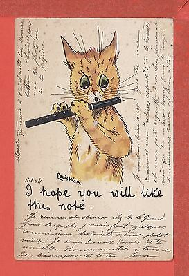 LOUIS WAIN Cat postcard I hope you will like this note!  posted 1904