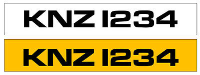 KNZ1234 Personalised Private Cherished registration number plate Dateless Cheap