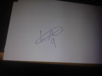Motherwell FC Louis Moult HAND SIGNED card