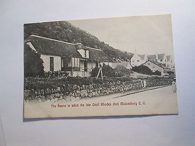Postcard of The house in which the late Cecil Rhodes died Muizenberg CC unposted