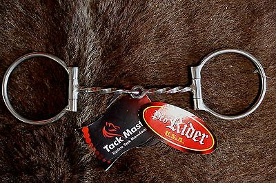 "Stainless Steel Slow Twist D-Ring Western 5"" Mouth Horse Snaffle Horse Bit 35151"