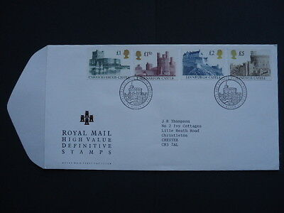 GB FDC High Value Castle Definitives 24 March 92 £1,£1.50,£2 & £5 Windsor cancel