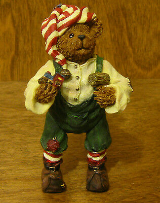 Boyds Shoebox Bears #3245 Alvin Elfbeary, 1st Ed, New from Retail Store Poseable
