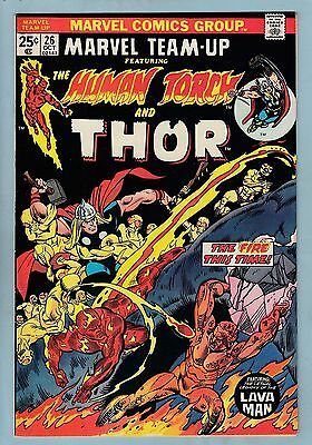 Marvel Team-Up # 26 Vfn (8.0) Human Torch - Thor - High Grade - Cents