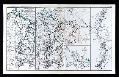 Civil War Map Harper's Ferry Winchester Strasburg - Atlanta to Savannah March