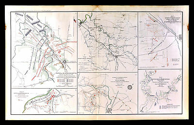 Civil War Map - Battle of Murfreesborough Murfreesboro Tennessee Thompson's Hill