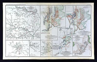 Civil War Map - Battle of Chickamauga Georgia - Wauhatchie TN - Army of Missouri
