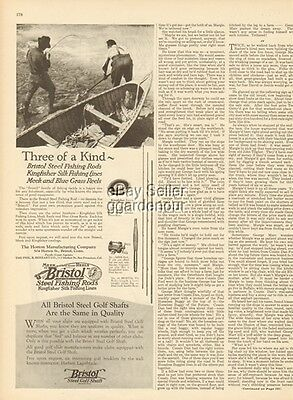 1925 Horton Mfg Bristol CT-Steel Fly Fishing Rod-Meek Reel-Kingfisher Line Ad