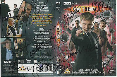 Dr Who Series 3 Volume 4 DVD Cover Auto by 11 Actors