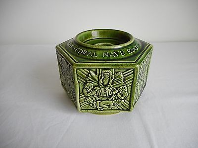 Holkham Pottery Hexagonal Norwich Cathedral Nave Roof Bosses Candle Holder