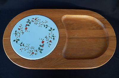 Pfaltzgraff Winterberry Cheese & Crackers Wood Tray Plate Server