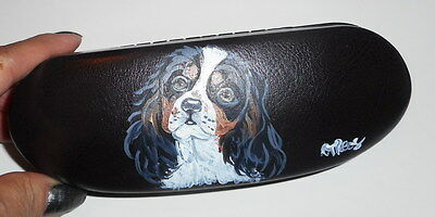 Cavalier King Charles Spaniel Dog Hand Painted Eyeglass case