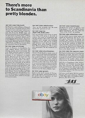 Sas Scandinavian Airlines System 1965 More To Scandinavia Than Blondes Ad