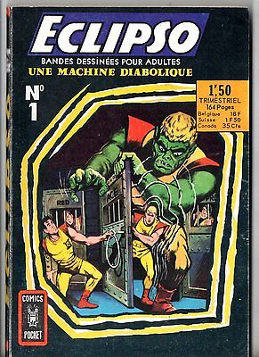RARE ¤ ECLIPSO n°1 ¤ UNE MACHINE DIABOLIQUE ¤ 1968 COMICS POCKET