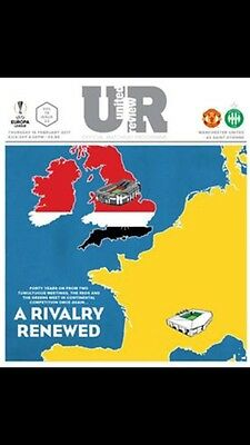 Manchester United V AS Saint-Etienne Official Matchday Programme 16/02/17