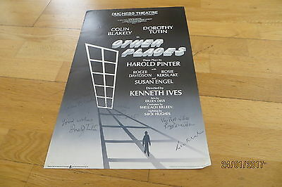 Dorothy Tutin Plus Cast SIGNED 'Other Places' Poster