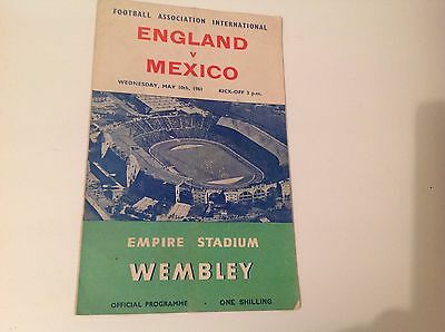England V Mexico  Match 10Th May 1961