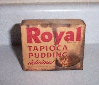 Vintage Box Of Royal Tapioca Pudding, Stained, But Box Has Never Been Opened