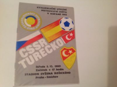 Czechoslovakia V Turkey Match 3Rd December 1980