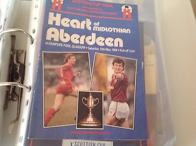 Rare Scottish  Cup Final 1986 Hearts V Aberdeen
