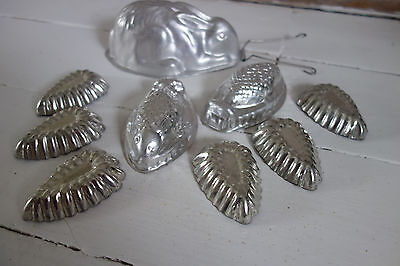 collection of vintage aluminium moulds