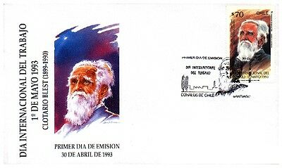 Chile 1993 FDC International Labour Day - Clotario Blest  Syndicalist Leader