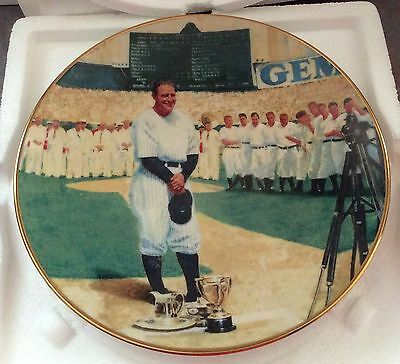 LOU GEHRIG Delphi Plate - The Luckiest Man - MIB