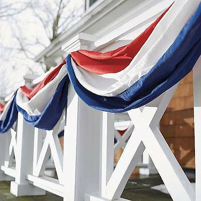 Martha Stewart For Grandin Road Polly Cotton Patriotic 4th July Bunting