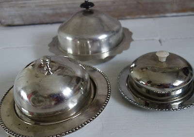 collection vintage silver plated  muffin /butter dishes