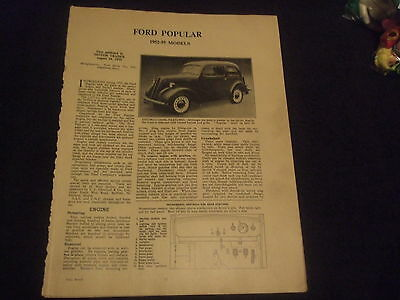 Ford Popular 1952-55 Models Service Guide