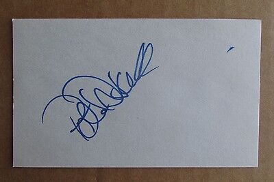 Peter Driscoll Signed Autograph 3X5 Index Card Nhl Oilers Wha Cowboys Racers