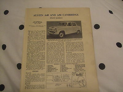 Austin A40 & A5 Cambridge 1954-55 Models Service Guide