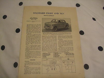 Standard Eight & Ten 1954-55 Models Service Guide