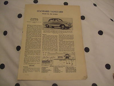 Standard Vanguard Phase III 1956  Model Service Guide