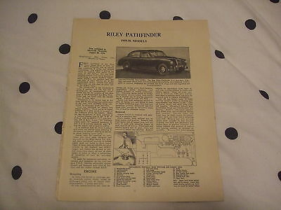 Riley Pathfinder 1955-56 Models Service Guide