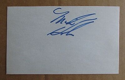 Mike Hobin Signed Autograph 3X5 Index Card Wha 1975-76 Phoenix Roadrunners