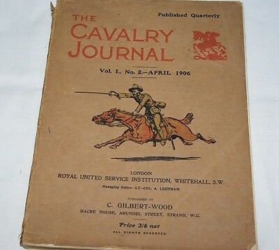 British 1906 Cavalry Officers Riding Book War Horse Army Thorneycroft Rifle