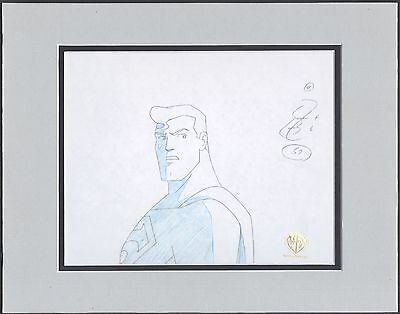 Superman The Animated Series Key production cel drawing WB Seal COA 2*