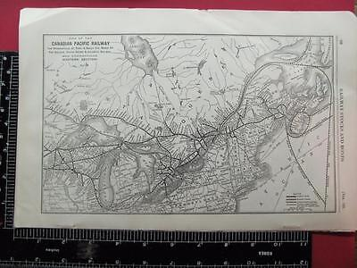 100 Year Old 1916 Canadian Pacific Railroad Eastern Section System Map Cp Rr