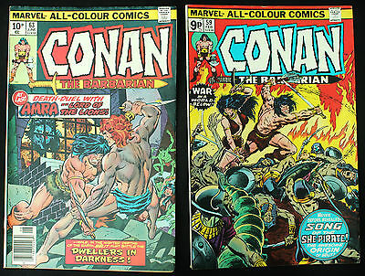 Conan the Barbarian 59 & 63 2 Bronze Age 1976 Marvel Comics origin of Belit