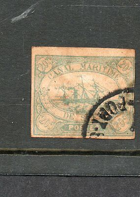 EGYPT SUEZ CANAL Co ISSUES 1868 SG 3  20 cent blue used