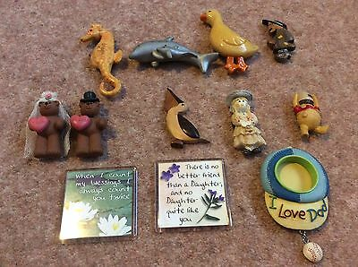 A COLLECTION OF FRIDGE MAGNETS x 12 SO CUTE ANIMALS, BEARS  LOOK NOW