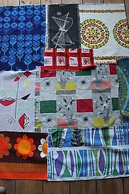 Good bundle of vintage Heals/ Mahler/ 50's fabric remnants